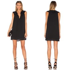 Revolve Amanda Uprichard Black Belle Mini Dress